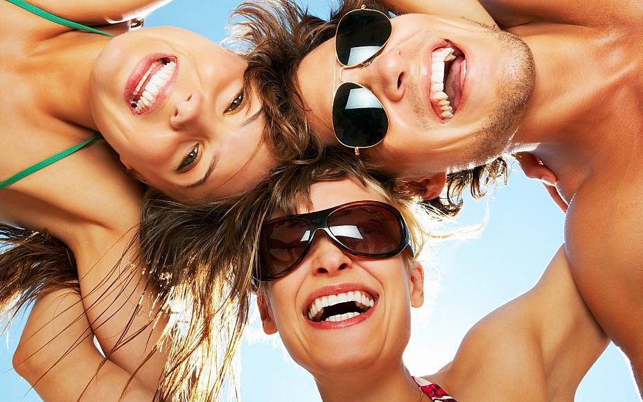 С друзьями всегда веселее!